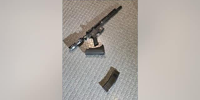 DC police released a photo of the long gun recovered from the scene.