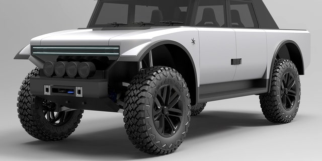 This design rendering offers a look at the style of the production truck.