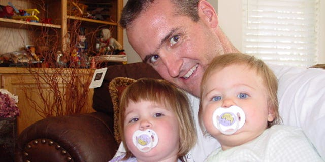 Pete Gersten with his daughters as young children.