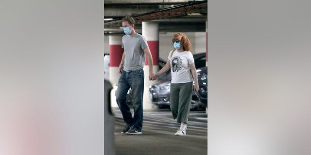 Kathy Griffin is spotted with husband Randy Bick after giving an update on her battle with lung cancer in Los Angeles, California.