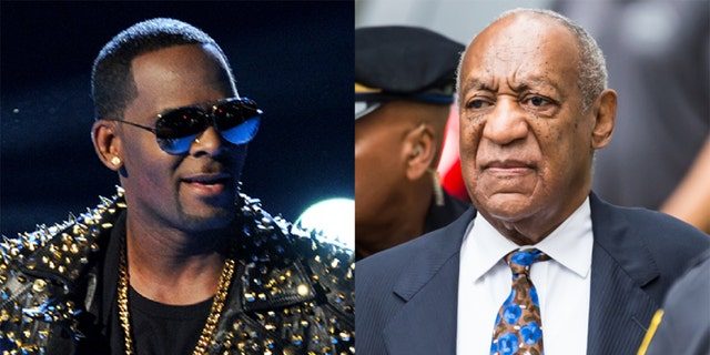 Bill Cosby (R) called R. Kelly's (L) conviction wasn't fair.