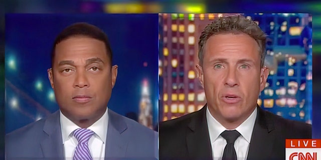 Don Lemon and Chris Cuomo engage in a nightly handoff where they briefly overlap to discuss current events with playful banter.