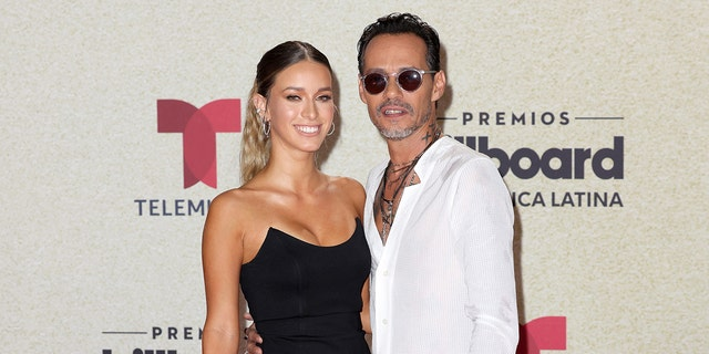 Madu Nicola Harris and Marc Anthony walked their first red carpet together.