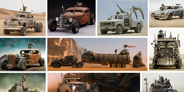 """A collection of cars used in the film """"Mad Max: Fury Road"""" are being sold by director George Miller and producer Doug Mitchell."""