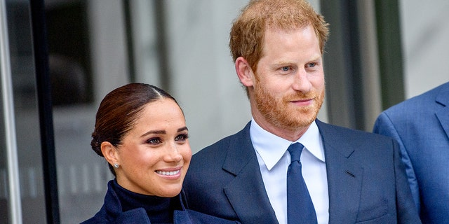 Meghan, Duchess of Sussex and Prince Harry, Duke of Sussex visit One World Observatory at One World Observatory on September 23, 2021 in New York City.