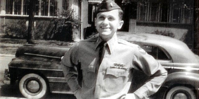 Lieutenant Robert J. Cwiak when he just returned home after WWII ended.