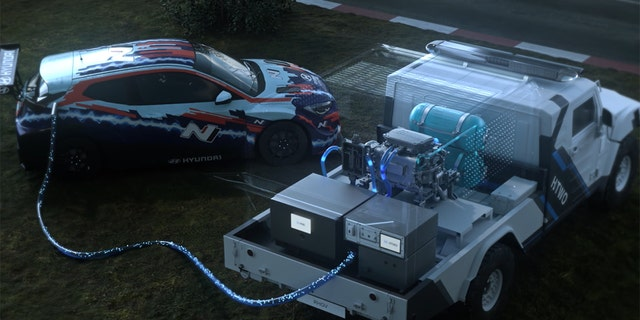 Hyundai launches hydrogen bombardment with trucks, cars