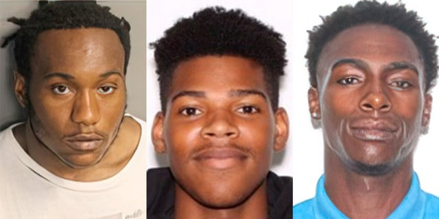 Suspects Travis Weston, Michael Collins and Jameon Brown courtesy of Orlando Police Department