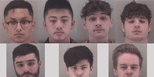 From upper left: Alessandro Medina-Villanueva, Colin Tran, Christian Rohrbach, Benjamin Corado, Jason Mulgrew, Riley McDaniel and Quinn Kuby.