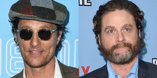 Matthew McConaughey couldn't control his laughter in a re-shared clip from his appearance on the movie version of Zach Galifianakis' 'Between Two Ferns.'