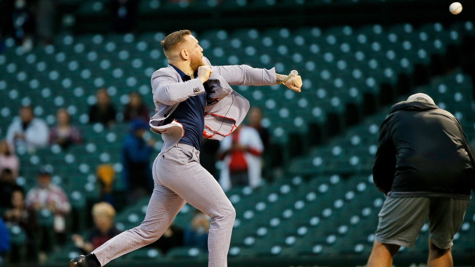 UFC's Conor McGregor throws awful first pitch at Cubs game: 'It's a little off'