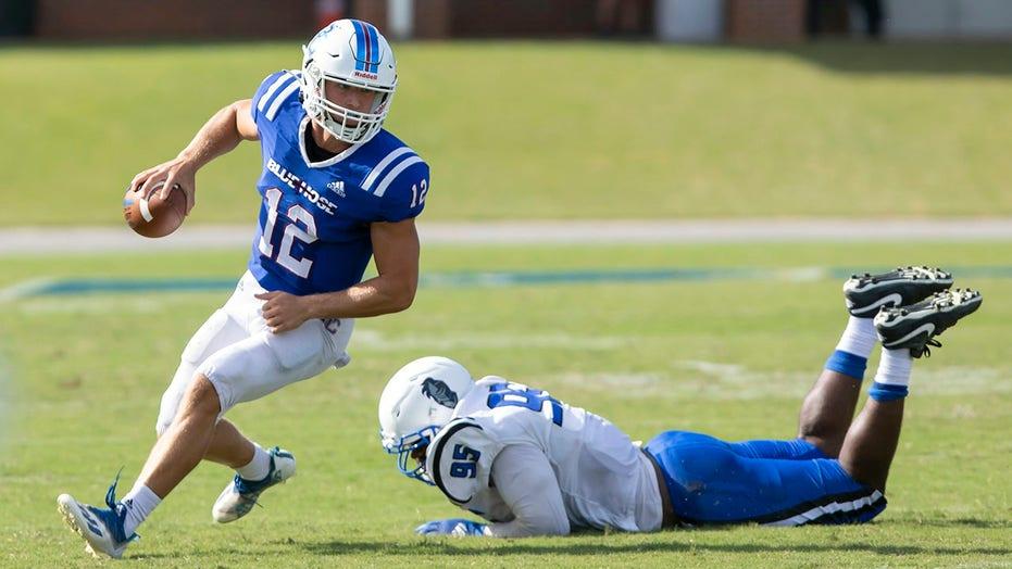 College quarterback sets FCS TD pass record in season opener