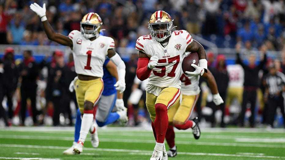 Healthy 49ers start strong with 41-33 win over lowly Lions