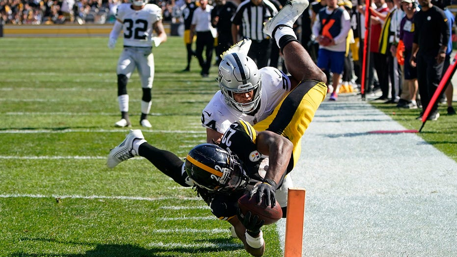 Steelers' Najee Harris dashes to first career touchdown in loss to Raiders