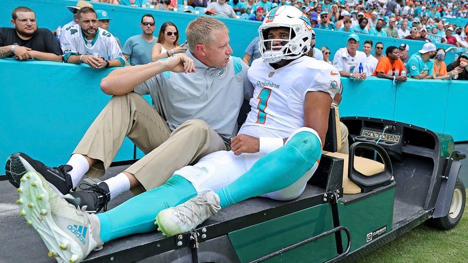 Dolphins say Tagovailoa broke ribs, won't play vs. Raiders