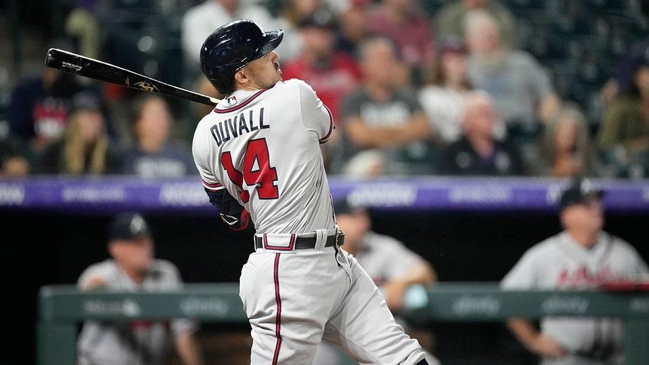 Duvall's 2-run homer lifts Braves over Rockies 6-5