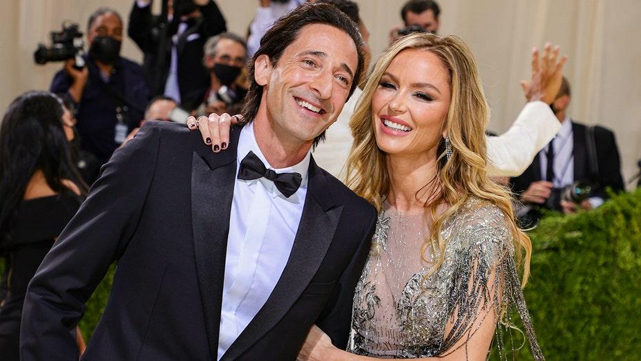 Georgina Chapman cozies up to boyfriend Adrien Brody at Met Gala