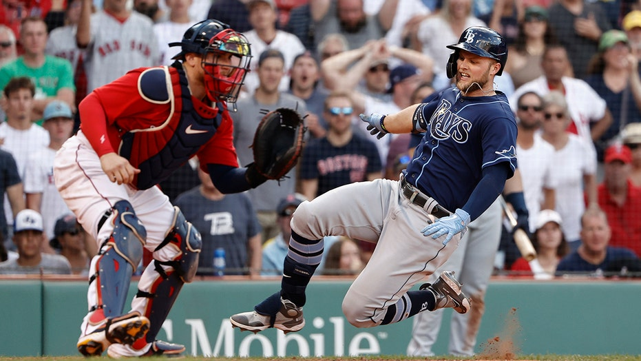 Meadows, Rays rally from 6 runs down, beat Bosox 11-10 in 10