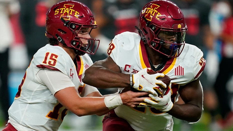 Purdy throws for 3 TDs, No. 14 Iowa State routs UNLV 48-3