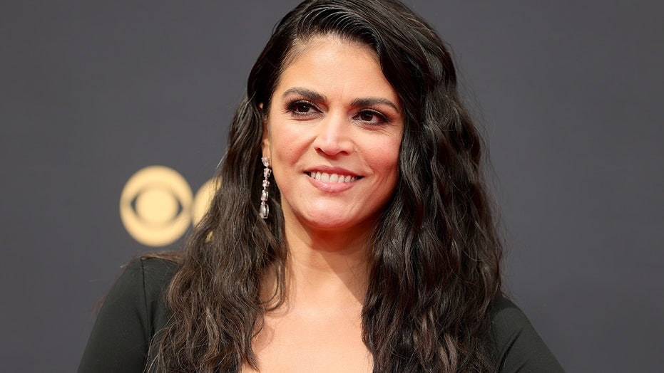 Emmys 2021 nominee Cecily Strong channels Angelina Jolie in leggy dress on red carpet