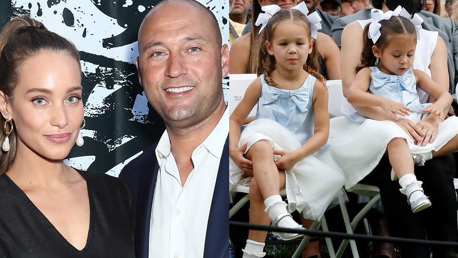 Derek Jeter's wife Hannah, kids make rare public appearance as they sweetly support his Hall of Fame induction