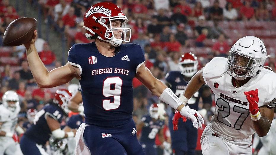 Haener rallies No. 22 Fresno State to 38-30 win over UNLV