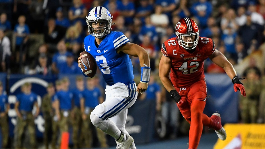 Hall passes for 3 TD, BYU tops No. 21 Utah 26-17