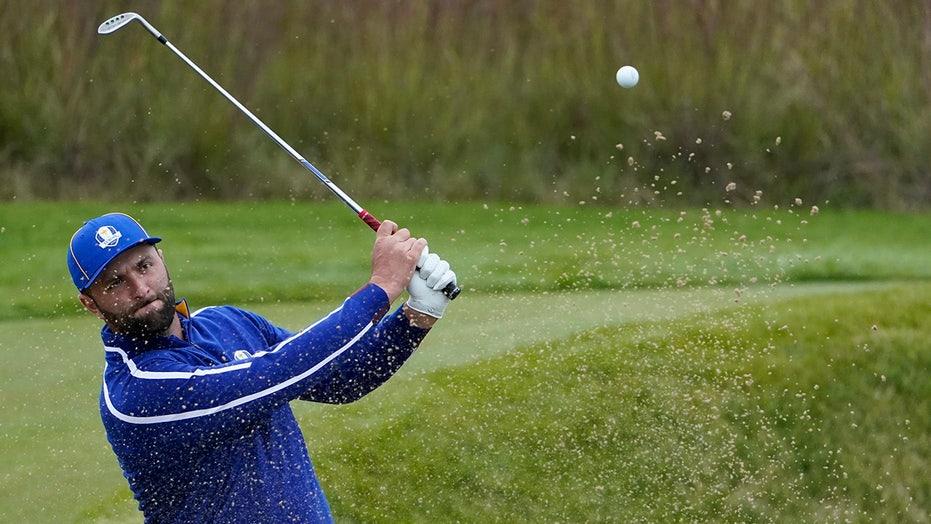 Ryder Cup: Jon Rahm nails long-range birdie attempt for Europe