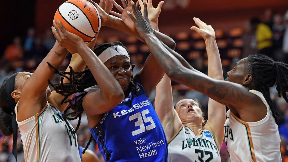 WNBA-leading Sun rout Liberty 98-69 for 13th straight win