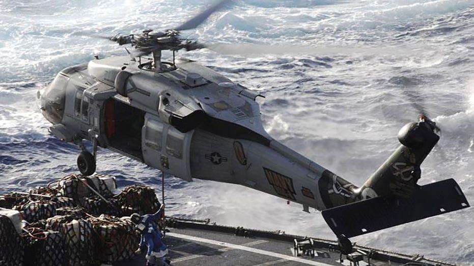 해안 경비대, 해군 헬리콥터 추락 후 실종된 5명의 선원 수색 작업 중단