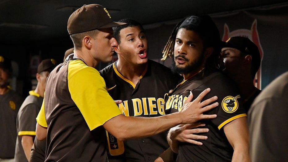Padres' Manny Machado, Fernando Tatis Jr. get into heated incident in dugout