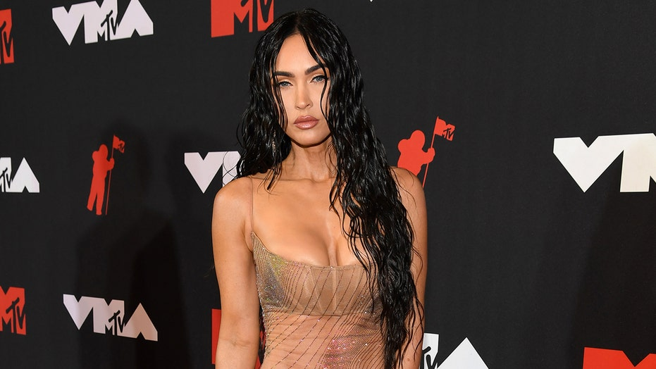 Megan Fox says viral naked dress was boyfriend Machine Gun Kelly's idea: 'Whatever you say, daddy'