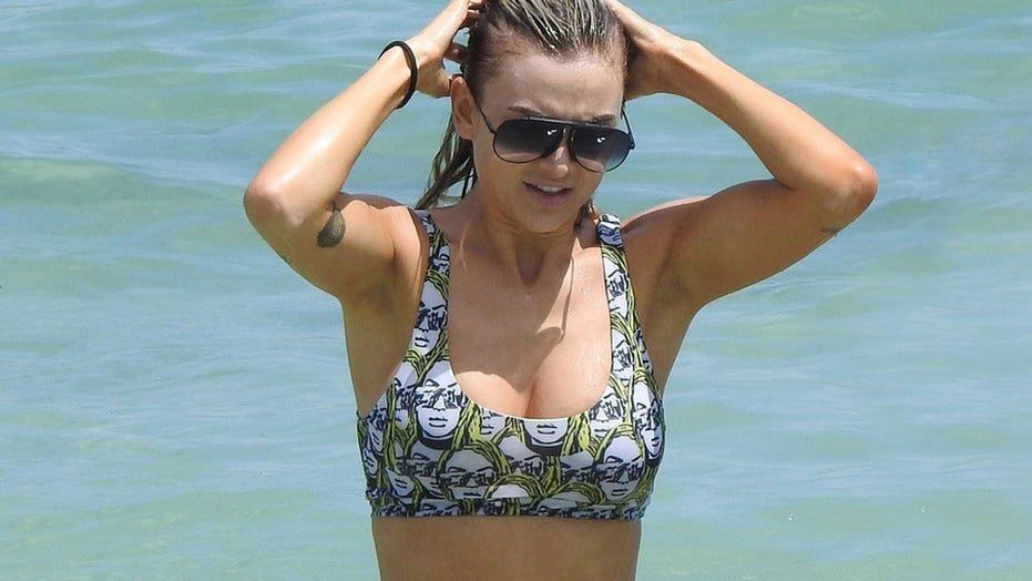 Lala Kent takes a dip during birthday getaway