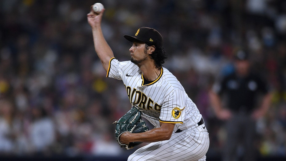 Darvish earns 1st win in 11 starts, Padres beat Angels 8-5