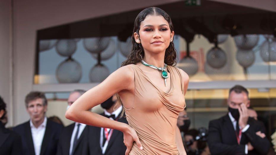 Zendaya stuns in 'wet' Balmain dress at Venice Film Festival