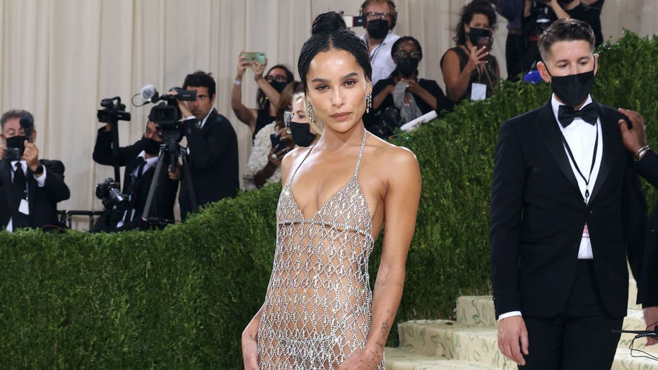 Zoë Kravitz responds after social media user comments on star's 'practically naked' look at the 2021 Met Gala