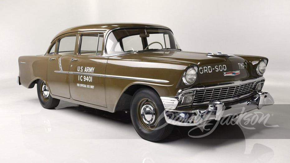 1956 Chevy 150 U.S. Army staff car being auctioned to benefit Honor Flight charity