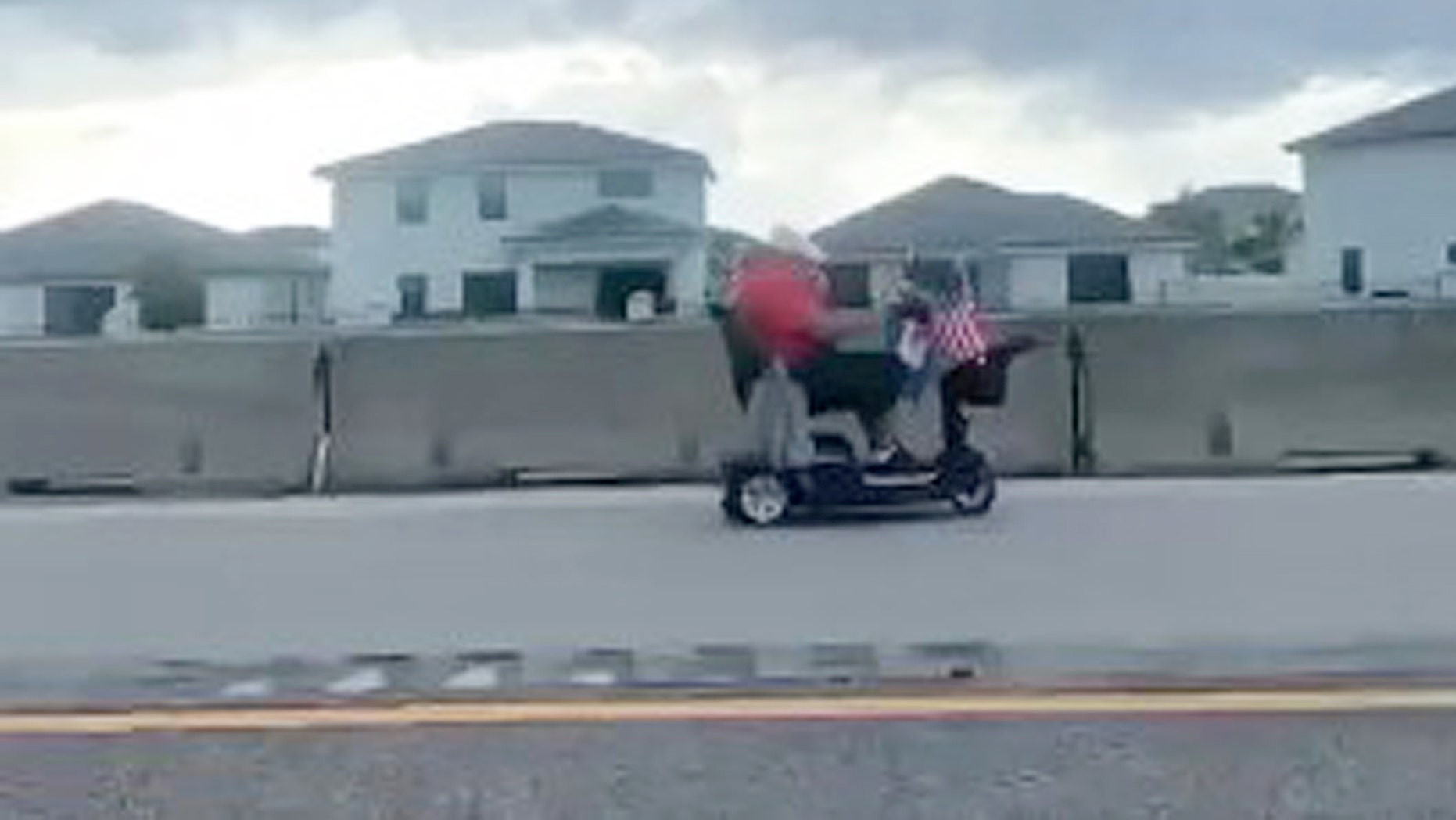 Florida State Troopers seen chasing elderly man riding scooter on Turnpike in viral video