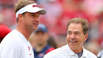 Ole Miss coach Lane Kiffin encourages fans to 'get your popcorn ready,' Alabama drops 28 points in first half