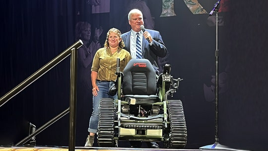 Wounded Army veteran gifted customized all-terrain wheelchair