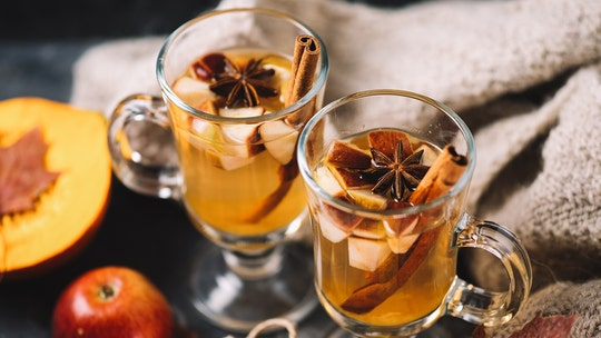 Pumpkin spice champagne sangria for your next fall happy hour