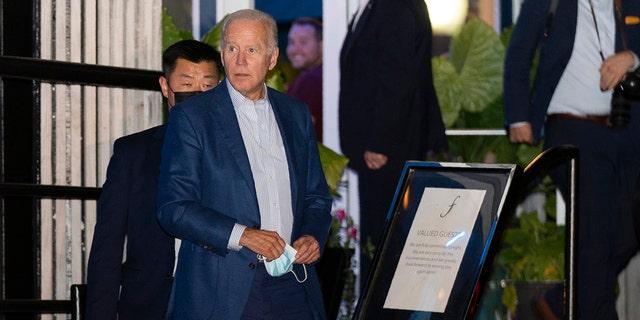 Biden caught violating DC mask mandate at Georgetown restaurant