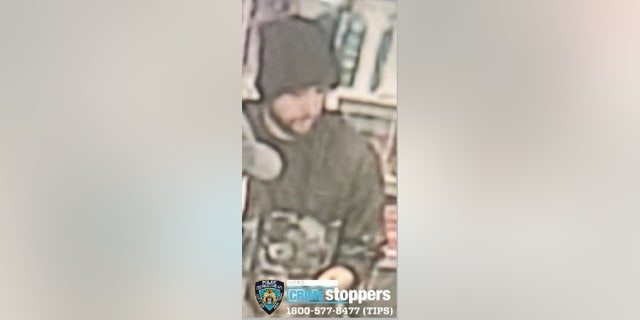 Two suspects were captured on security footage beating a man outside a 7-Eleven store in New York City.