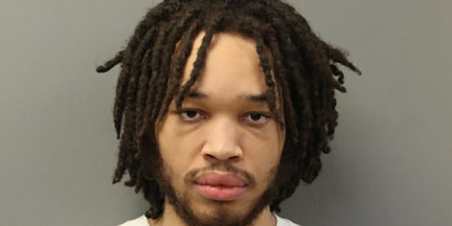 Aireon Luster, 24, was arrested on Wednesday at his grandmother's home in Riverside (Chicago PD)