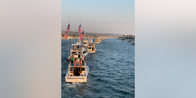 Tournament boats in the harbor. (Photo credit: War Heroes on Water)