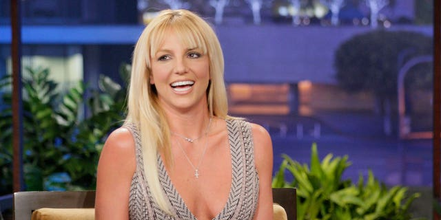 Britney Spears during an interview with host Jay Leno on October 29, 2012.