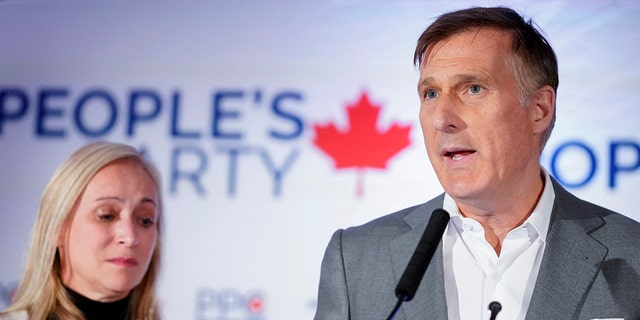 People's Party of Canada (PPC) leader Maxime Bernier speaks after the announcement of federal election results in Beauceville, Quebec, Canada October 21, 2019. REUTERS/Mathieu Belanger