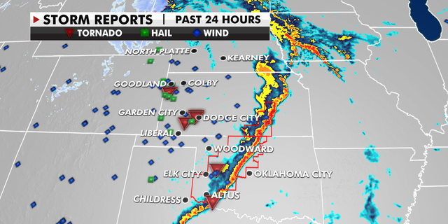 Tornadoes across the Central Plains