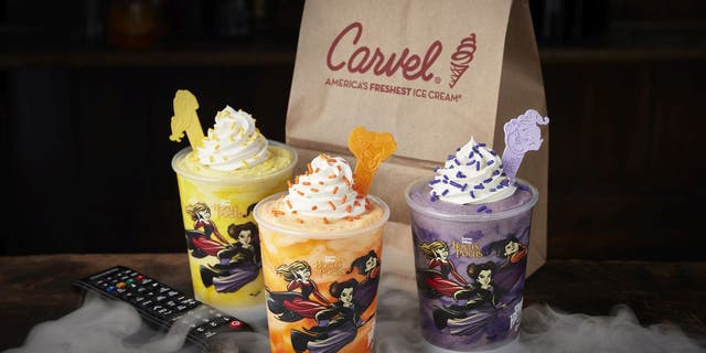 """National ice cream chain Carvel has a new limited-edition """"Hocus Pocus"""" beverage line."""