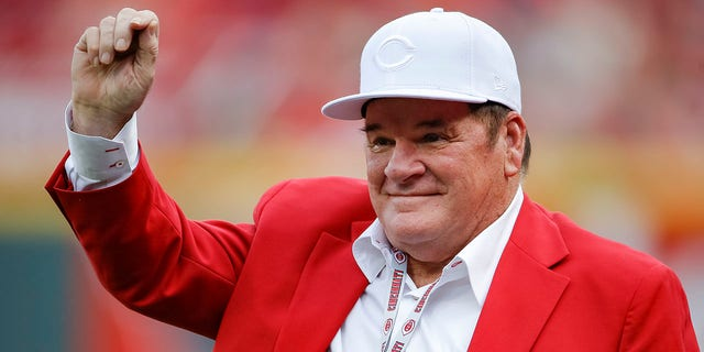 Former Cincinnati Reds manager and player Pete Rose is seen before the game against the Pittsburgh Pirates at Great American Ball Park on July 21, 2018 in Cincinnati, Ohio.